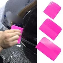 Pink Scraper Soft Rubber Car Window Squeegee Tint Tools Glass Water Scraper 6XDB