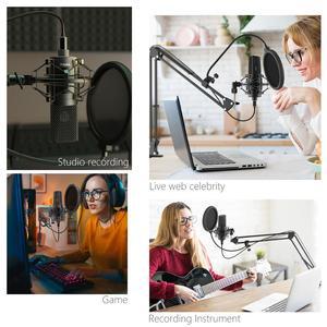 Image 5 - Fifine USB PC Condenser Microphone with Adjustable desktop mic arm shock mount for  Studio Recording Vocals  Voice, YouTube