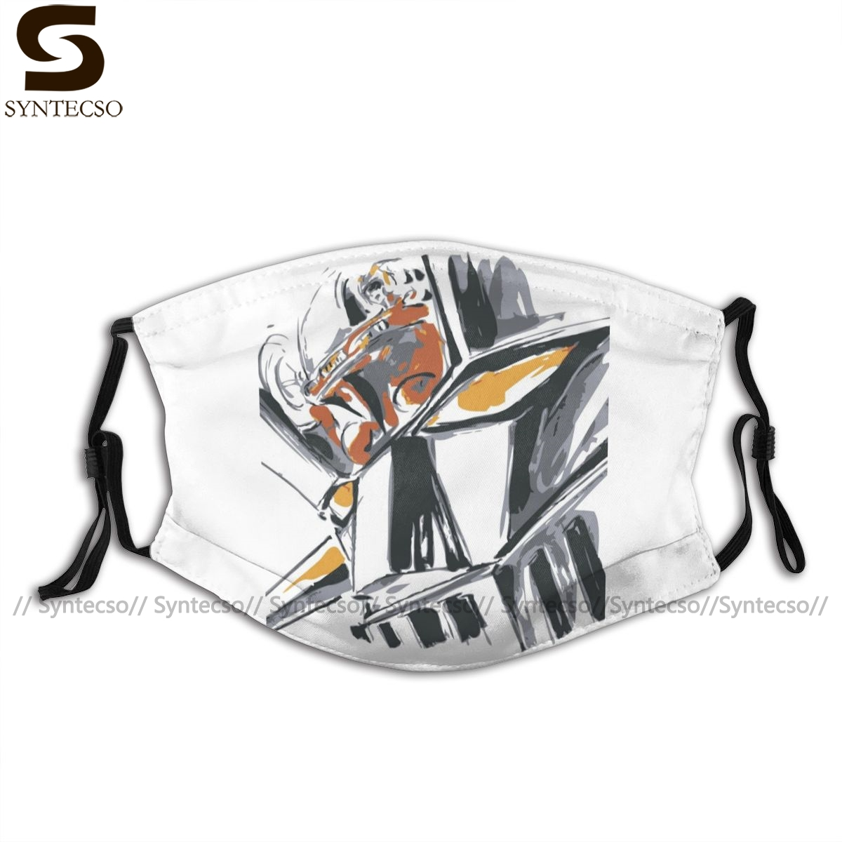 Mazinger Mouth Face Mask Mazinger Z Facial Mask Cool Fashion With 2 Filters For Adult
