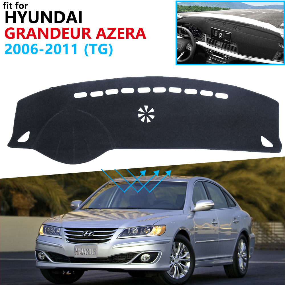 Dashboard Cover Protective Pad For Hyundai Grandeur Azera 2006 2007 2008 2009 2010 2011 Accessories Dash Board Sunshade Carpet