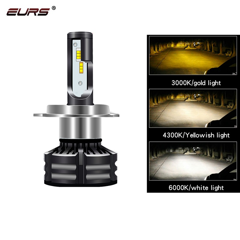 EURS LED headlight <font><b>bulbs</b></font> H4 LED H7 T6 12V 24V 60W 10000LM fog lamp <font><b>3000k</b></font> 4300k 6000k H11 LED 9005 HB3 9006 <font><b>HB4</b></font> D1 D2 D3 D4 image
