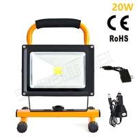 1pcs/방수 야외 20w led 홍수 조명 충전식 비상 Led 램프 휴대용 스포트 라이트 배터리 전원 led 스팟 램프