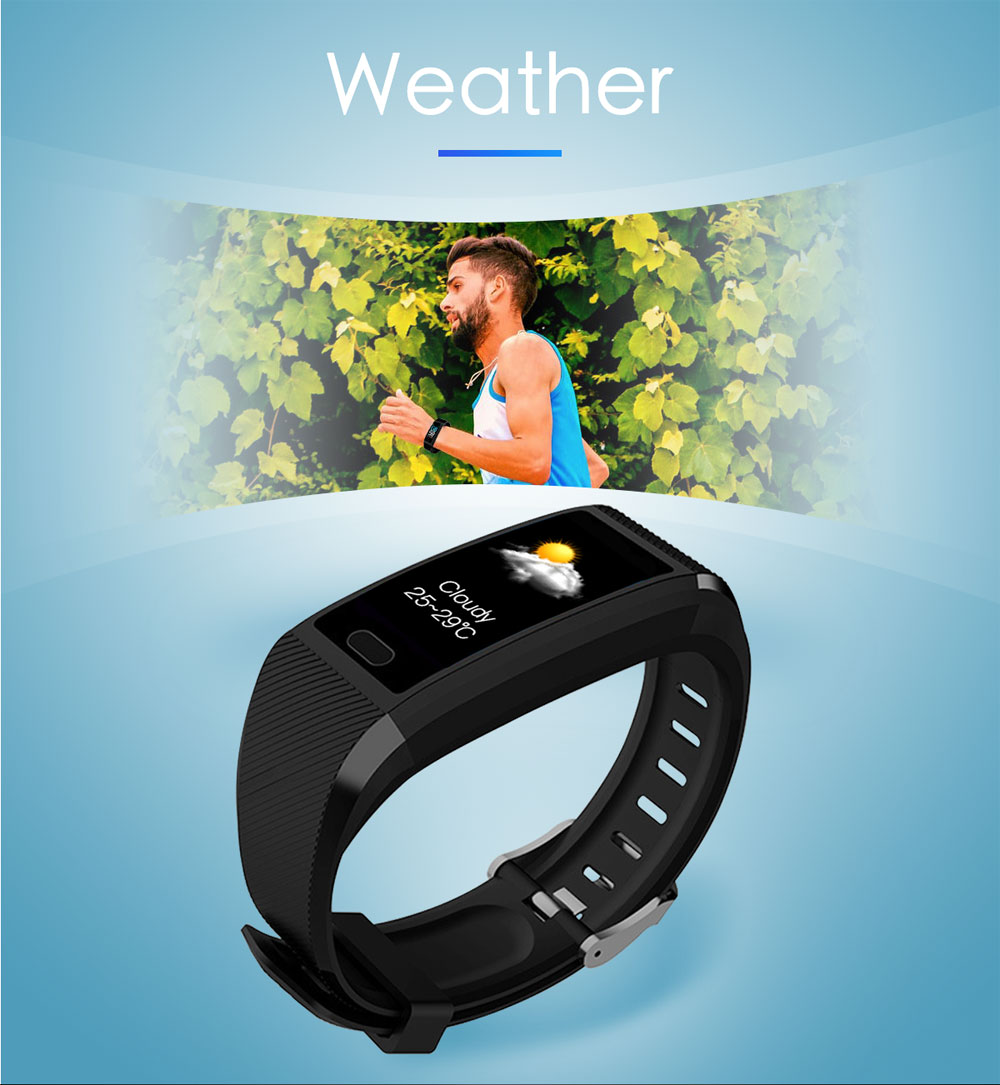 Hf6ea5f244fa746dcbe14484fdd1d2b29m Smart Wristband Fitness Bracelet Waterproof Fitness Tracker Watch Blood Pressure Weather Display Smart Bracelet Watch Women Men