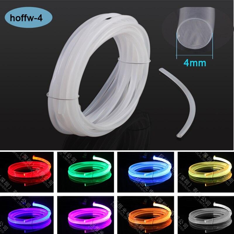 Cream Color 4mm Diameter MMA Soft Glass Fiber Optic Lighting Illuminator Products