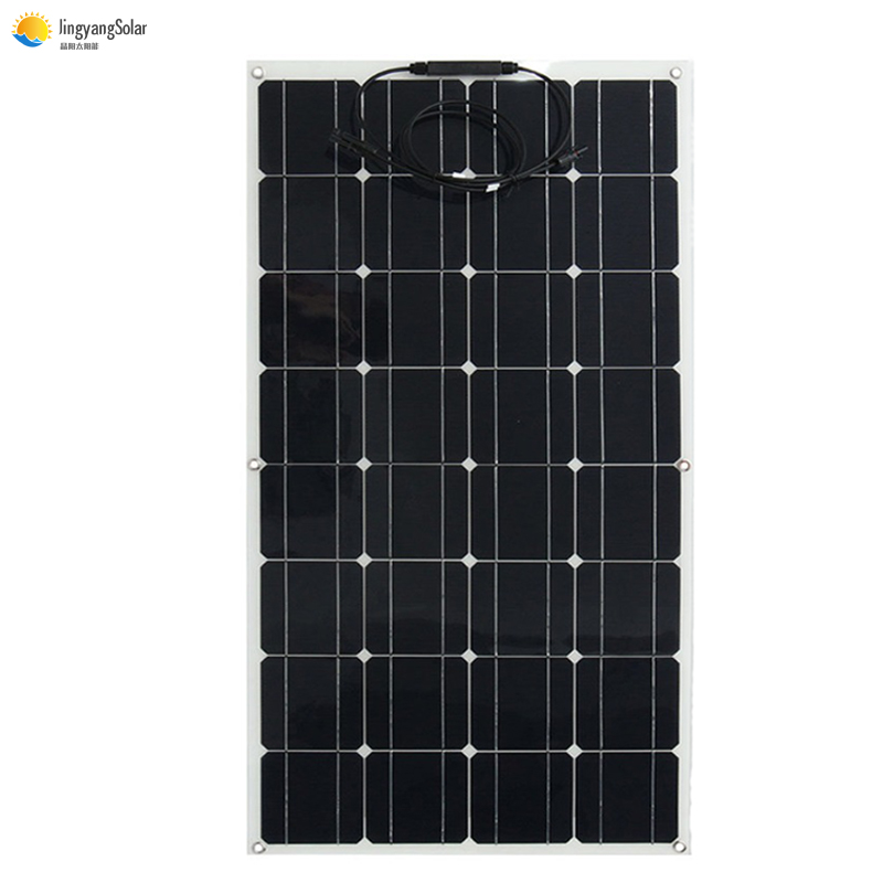 Newly <font><b>100</b></font> <font><b>Watt</b></font> 100W 12V 12 Volt Flexible Bendable <font><b>Solar</b></font> <font><b>Panel</b></font> Battery China cheap <font><b>solar</b></font> cell semi system kit RV Boat Camping image