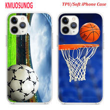 Silicone TPU Cover for iPhone 11 11Pro XS MAX XR X soccer ball basketball volleyball (for iPhone 8 7 6S 6 Plus 5S Phone Case(China)