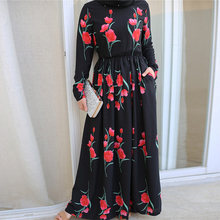 Siskakia Maxi Dress Rose Printed A Line