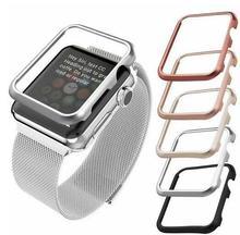 Wysokiej dobrej jakości obudowa pokrywa dla Apple obserwować 42mm 38mm 40mm 44mm dla serii iwatch se 6 5 4 3 2 1 metalowa rama ochronna przypadku tanie tanio dalan CN (pochodzenie) 20 cm STAINLESS STEEL Nowy z metkami For apple watch 1 2 3 4 5 6 se band case