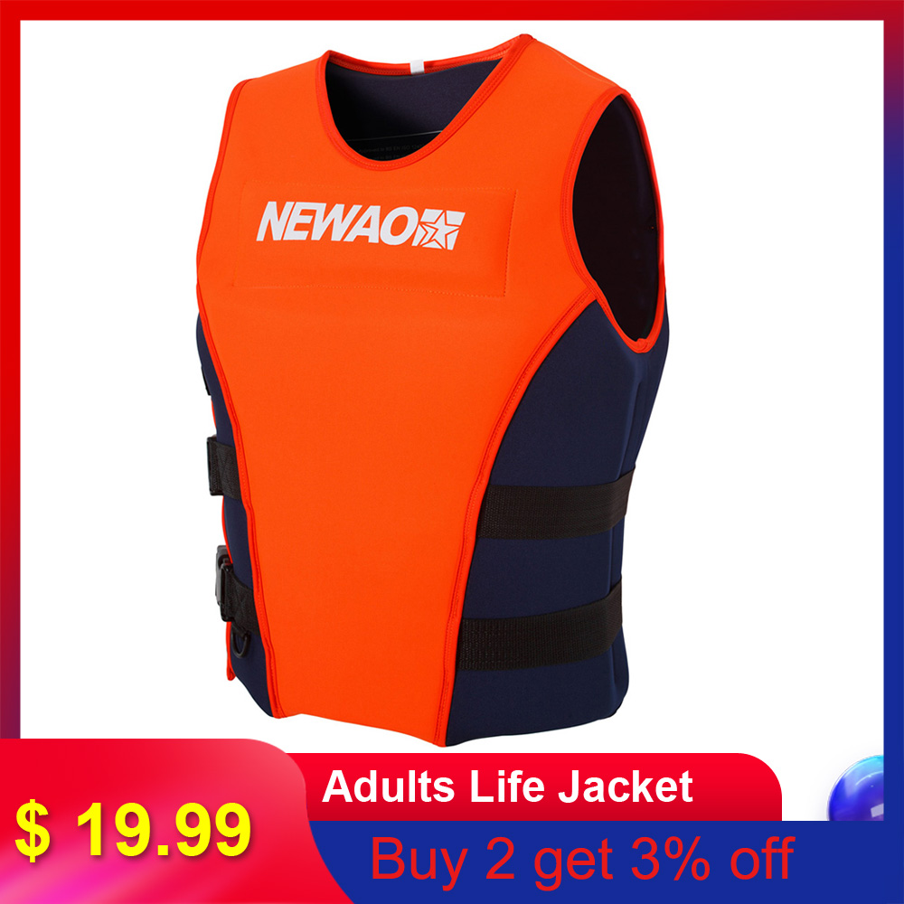 Life Jacket Neoprene Safety Life Vest for Water Ski Wakeboard Swimming S-XXXL
