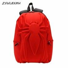 ZYWLBXMH 3D Stereoscopic Spider-Man School Bag Marvel Backpack Kids SchoolBag Boy Student s?rt �antas?