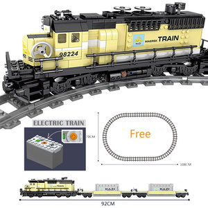 Image 2 - Technic Battery Powered Electric Classic Compatible All Brands Train City Rail Creator Building Blocks Bricks Toys For kids