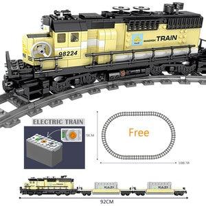 Image 2 - Tecnología con batería eléctrica clásica Compatible con brank Train City Rail Creator bloques de construcción juguetes para niños regalo