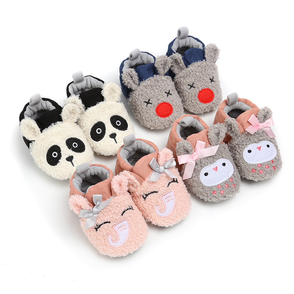 Kid Slippers All-Inclusive Cotton Cartoon Soft Home Indoor Baby Cotton Slippers Baby Boys Girls Shoes Warm Home Slippers