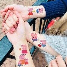 Peppa Свинья тату наклейки мультфильм игрушки набор Джордж семья и друзья водяные дети детские игрушки подарки
