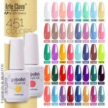 Arte Clavo 15ml 451Color Gel Polish Gellack Hybrid Semi Permanent LED Nails Art Manicure Gel Varnish Soak Off UV Gel Nail Polish