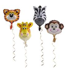 1pc Jungle Animal  Foil Balloons Safari Party Decorations Birthday Anniversary Adventure Decor Kids