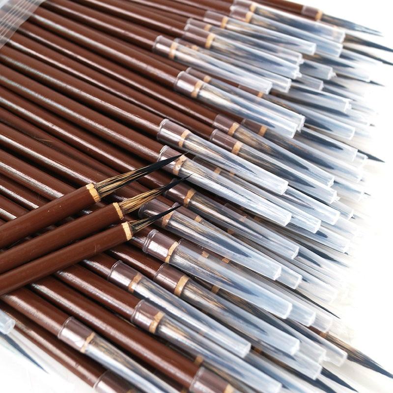4pcs Line Fine Paint Brushes Stone Badger Chinese Brush Pen Chinese Calligraphy Brush Pen Art Acrylic Oil Watercolor Paint Brush