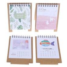 Calendar Desktop-Paper Scheduler-Table-Planner Dual-Daily Mini Yearly Cartoon Flamingo