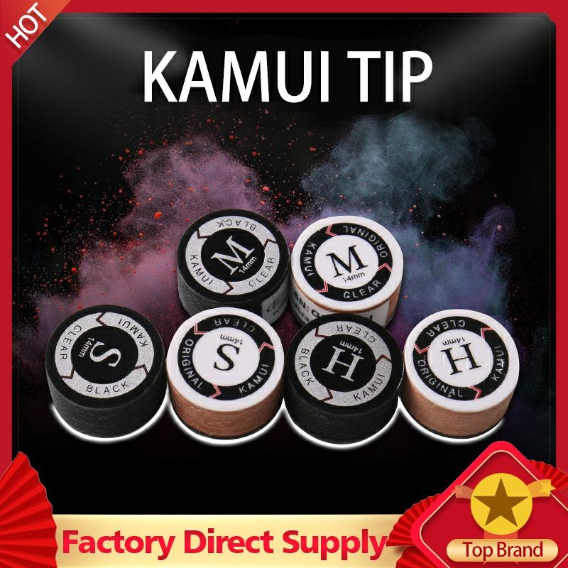 KAMUI Pool Cues Tips Black SS/S/M/H Snooker Cue Tip 11mm/14mm Durable Tips Billiard Accessories Professional Nine Ball 2020