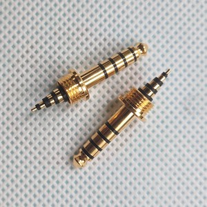 Image 4 - 4.4mm Male 5 pole Poles Earphone Pin Plug 4.4 Audio Full Balanced Connector Convertor Adapter for Sony