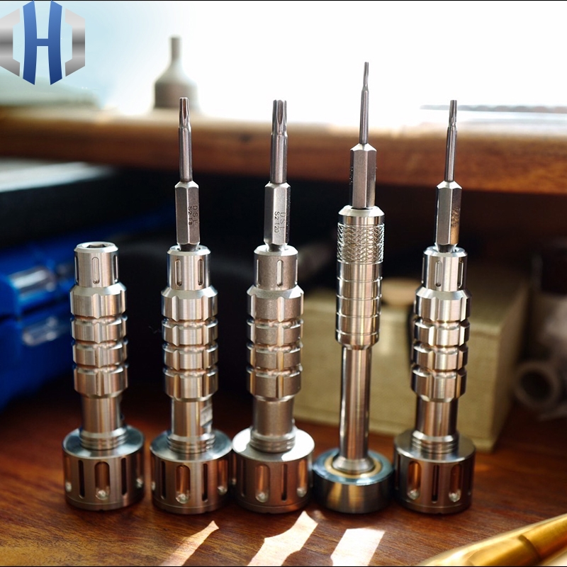 Titanium Alloy Copper Brass Version Gyro Screwdriver Set EDC Multifunctional Screwdriver Set