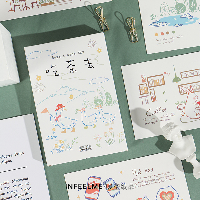 30 Sheets/Set Have A Nice Day Hand Painted Postcard Greeting Card Birthday Letter Gift Card Message Card