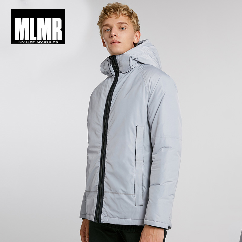MLMR Winter Mens  Versatile Hooded Stand Collar Windproof Warm Cotton Jacket | 218309529