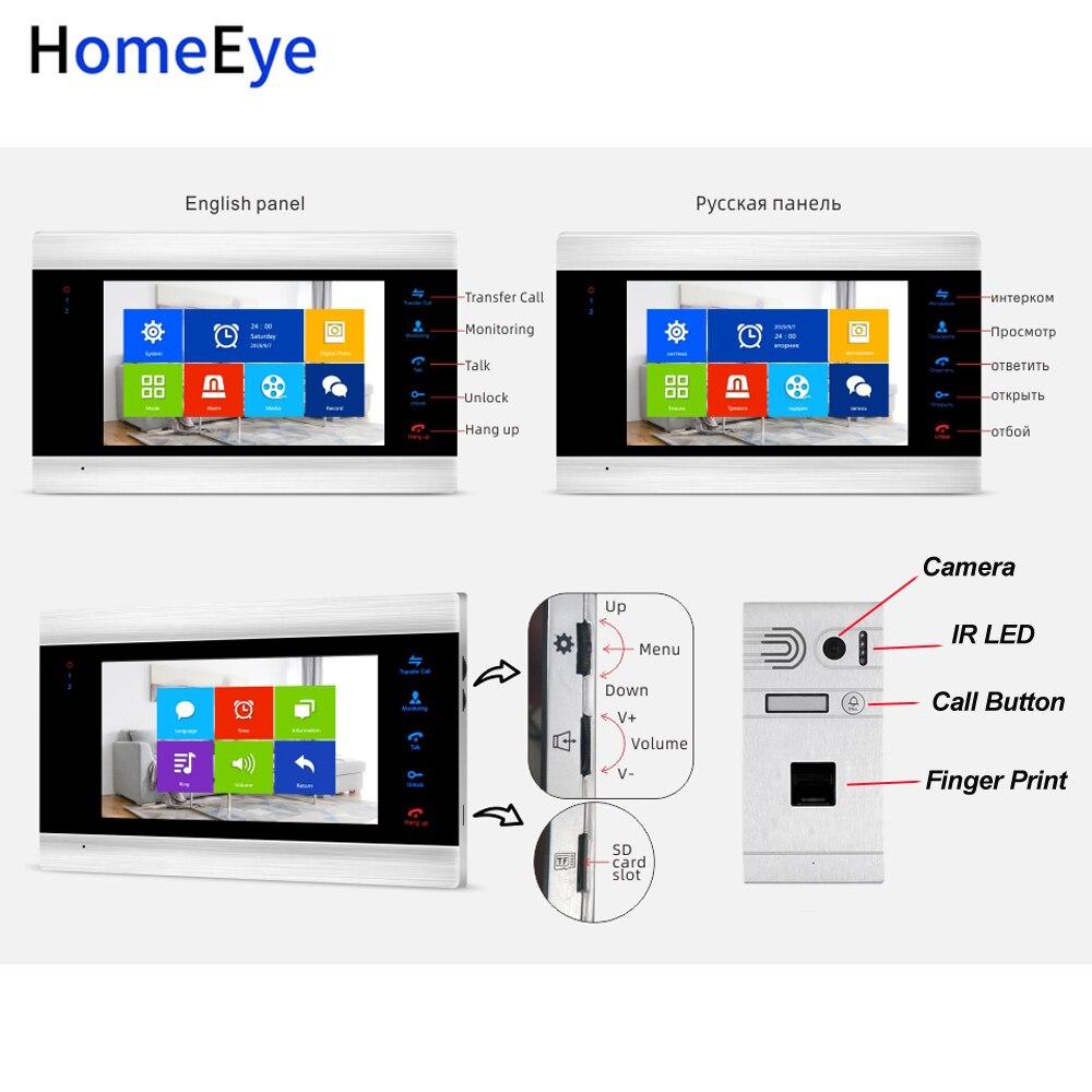 Купить с кэшбэком Tuya App Remote Unlock WiFi IP Video Door Phone 960P HD Video Intercom System Home Access Control Fingerprint Motion Detection