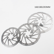цена на Bike Disc Brake Rotor Centerline 160mm 180mm 203mm High Quality Stainless Steel MTB Brake Disc Rotors With 6 Bolts For Sram