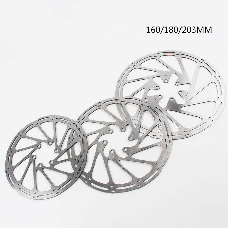 Bike Disc Brake Rotor Centerline 160mm 180mm 203mm High Quality Stainless Steel MTB Brake Disc Rotors With 6 Bolts For Sram