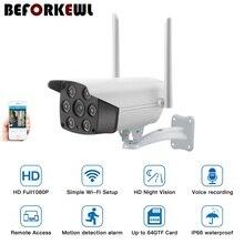 цена на 1080P Wireless IP Camera Wireless Outdoor Waterproof HD Full Color IR Night Vision CCTV Bullet Camera