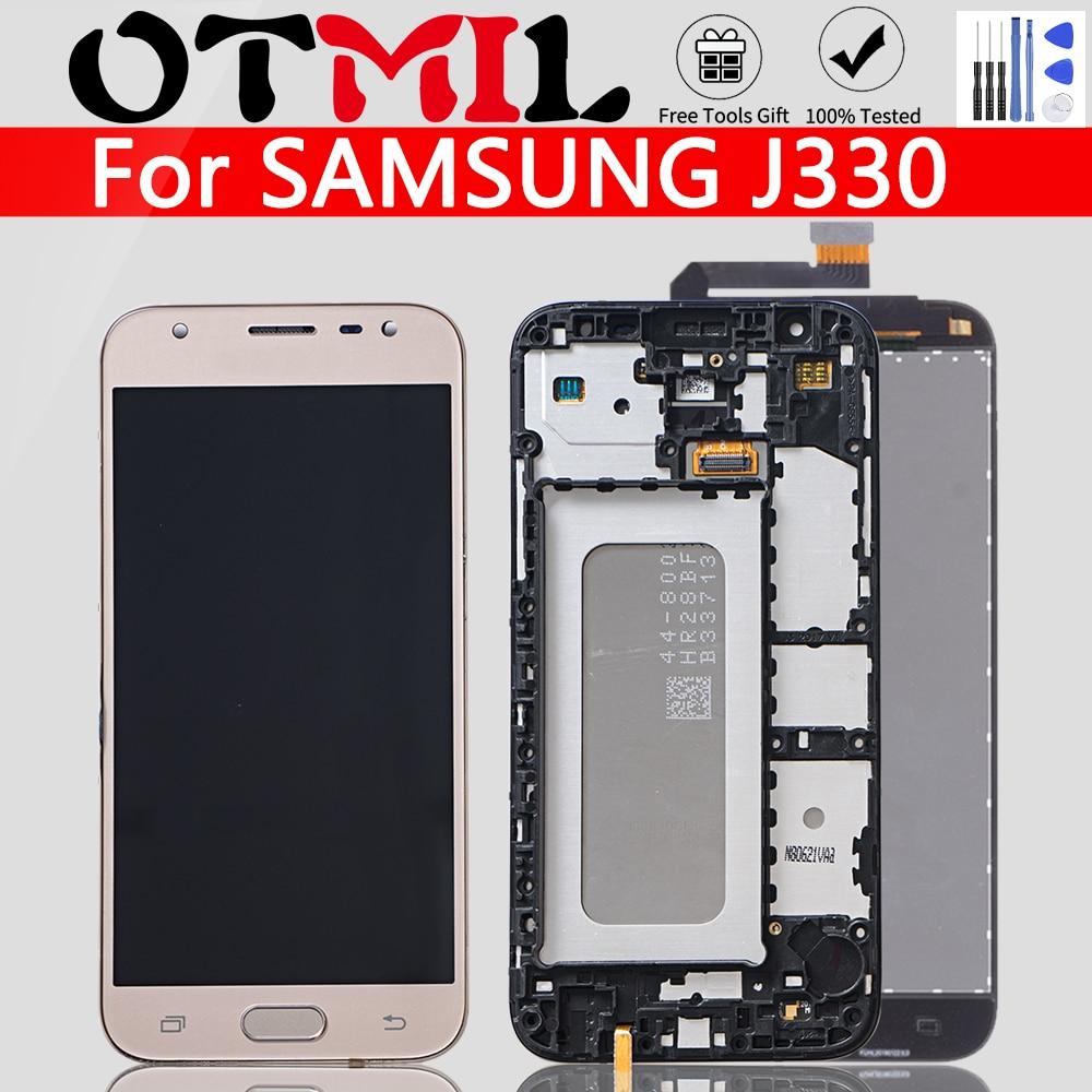 Super AMOLED 5.0'' For SAMSUNG Galaxy J3 2017 LCD Touch Screen Digitizer Frame For SAMSUNG J3 SM-J330 J3 Pro J330 J330F J330 LCD