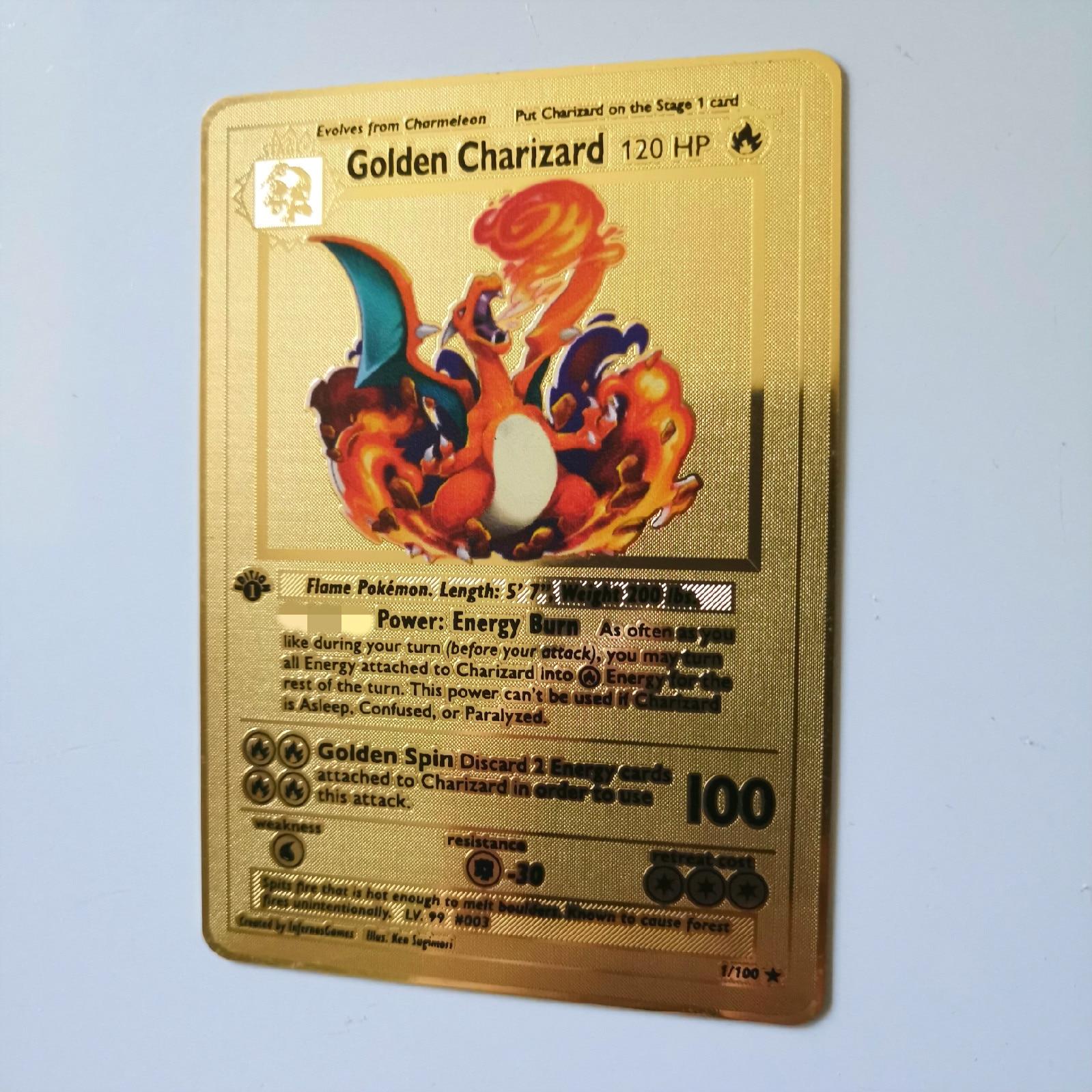 Dragon Ball золотая металлическая карточка супер игра Коллекция аниме-открытки игра детская игрушка - Цвет: huo 3