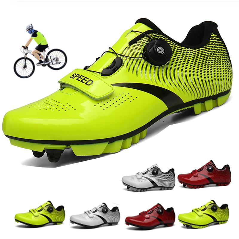 Cycling Shoes Sapatilha Ciclismo Mtb Men Sneakers Women Mountain Bike Shoes Self-Locking Superstar Original Bicycle Shoes