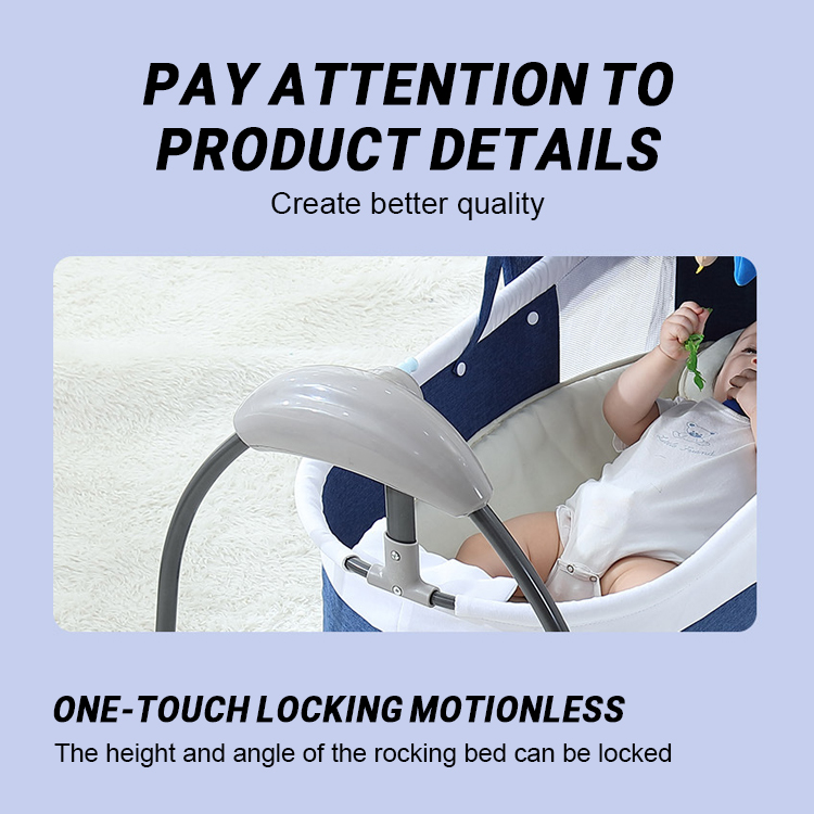 Hf6ecf739f61640dd960f8a7e014ebc4eP Bluetooth Control Swing Baby Rocking Chair Electric Baby Cradle Remote Control Cradle Rocking Chair For Newborns Swing Chair
