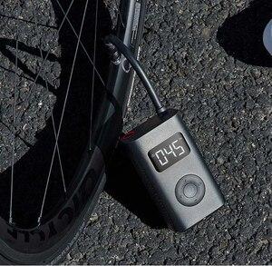 Image 3 - Yeni Xiaomi elektrikli şişirme pompası akıllı dijital lastik basınç algılama bisiklet motosiklet araba için futbol stokta