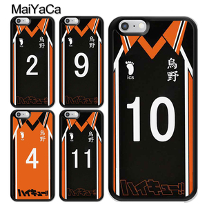 Haikyuu!! Anime Manga Volleyball Uniform TPU Case For iPhone 11 Pro MAX X XR XS MAX SE 2020 6S 7 8 Plus 5s Cover Coque(China)