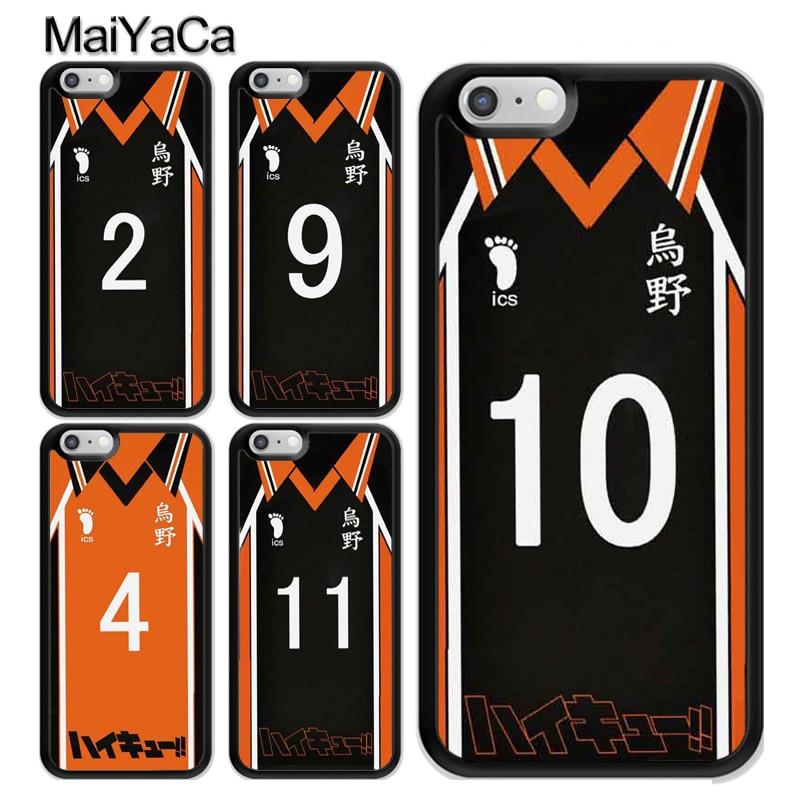 ¡Haikyuu! Anime Manga uniforme de voleibol TPU funda para iPhone 11 Pro MAX X XR XS MAX SE 2020 6S 7 8 Plus 5s, funda