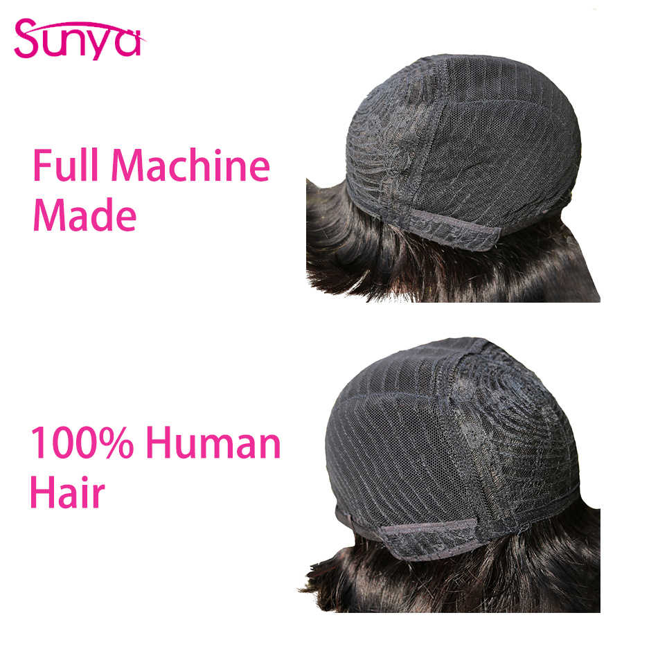 Rechte Pixie Cut Pruik Human Hair Met Pony Braziliaanse Menselijk Haar Bob Pruiken Voor Zwarte Vrouwen