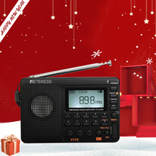 Retekess V115 FM/AM/SW רדיו מקלט בס קול MP3 נגן REC מקליט נייד רדיו עם שינה טיימר TF כרטיס נייד כיס