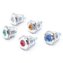 12v 24v 220v diodo emissor de luz luz indicadora piloto conduziu 12v luzes indicadoras conduzidas 16mm redondas led cabeça plana lâmpada de sinal