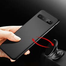 Magnetic Car Holder Case For Samsung S10 e S10e Plus Ultra thin Soft Silicone TPU Phone Cases Cover For Samsung S9 S10 Plus Capa
