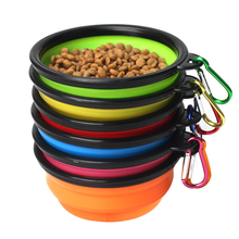 1pcs Portable Dog Bowl Travel Outdoor Pet Silicone Folding Bowls Food Drinking Water Product