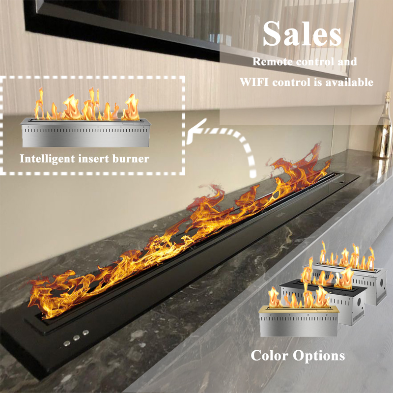 72 Inch Ethanol Fireplace Modern Electric Insert Fireplace