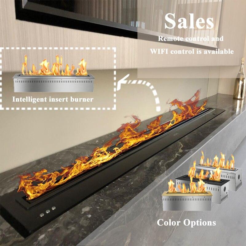 72 Inch Smart Remote Controlled Bio Ethanol Fireplace Bioethanol