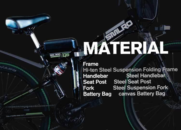 MX300 2019 New Design 350W/500W/750W/1000W 48V 10AH/13AH electric bicycle 26 inch folding electric bike with high quality 5