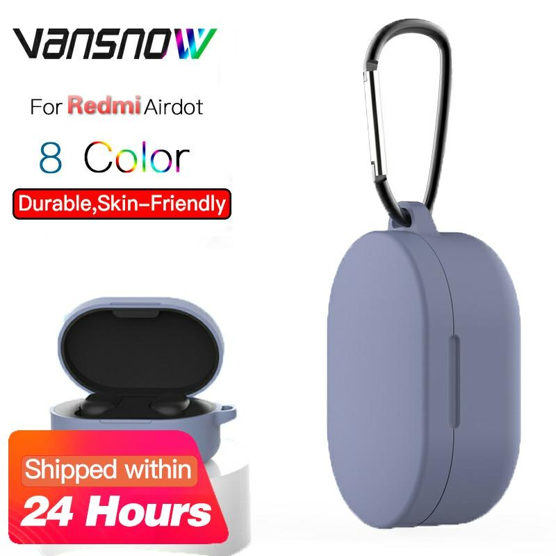 8 Style For Redmi Airdots Silicone Protective Cover Wireless Bluetooth Earphone Case With Hook For Redmi Airdots Case