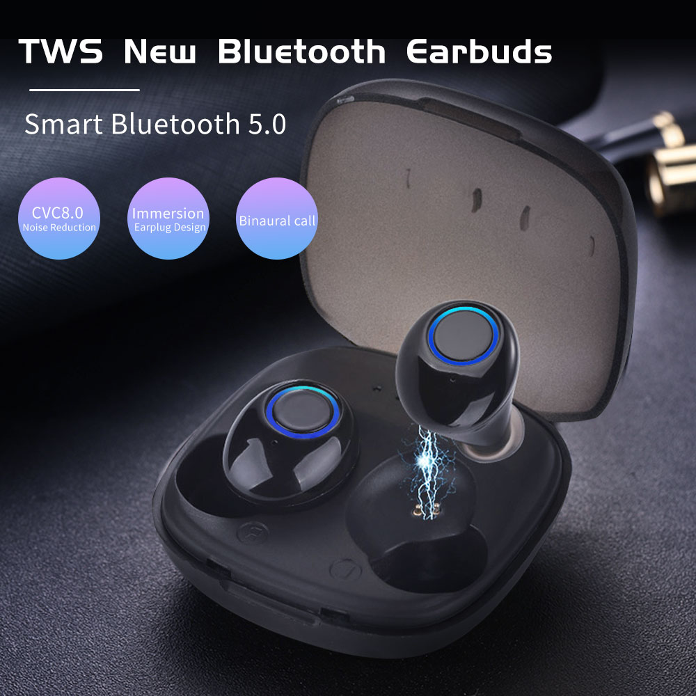 BluMusi K11 TWS Wireless Earphones Bluetooth 5.0 True Wireless Stereo Earbuds Auto Connect Headset Mini Bass Headphones