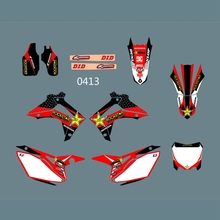 Full Graphics Decals Stickers Custom Number Name Glossy Bright Stickers Waterproof for HONDA CRF450 2013-2014 CRF250 2014-2016 h2cnc graphics decal sticker for honda crf250r crf250 2014 2016