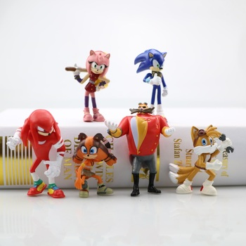 Sonic Action Figure Shadow Tails Characters Figure6pcs PVC Hobby Collection Model Dolls For Kid Animals Toys Set Birthday Gift